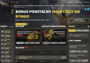 LVBET - screen strony lvbet.pl