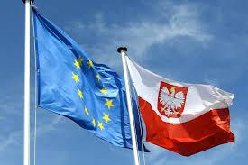 Flaga Unii Europejskiej i Polski